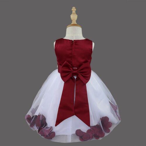 Flower Girls Princess Dress Wedding Bridesmaid Pageant Petals Tutu Gown Toddler