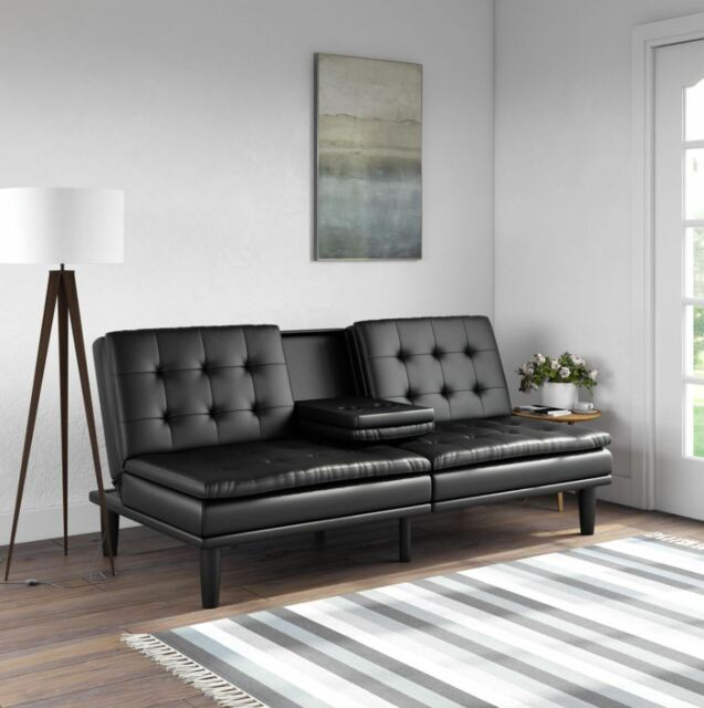 Fine Futon Couch Bed Sleeper Sofa Rv Memory Foam Faux Leather Seat Guest Bed Couches Inzonedesignstudio Interior Chair Design Inzonedesignstudiocom