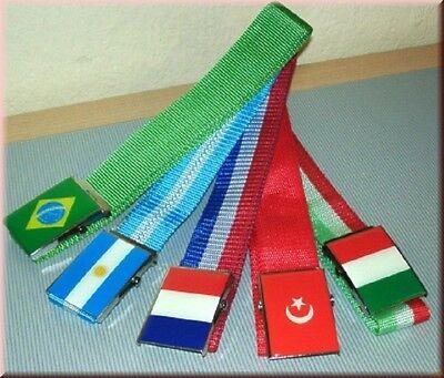Stetig Fußball Länder Gürtel Web Gürtel Wm