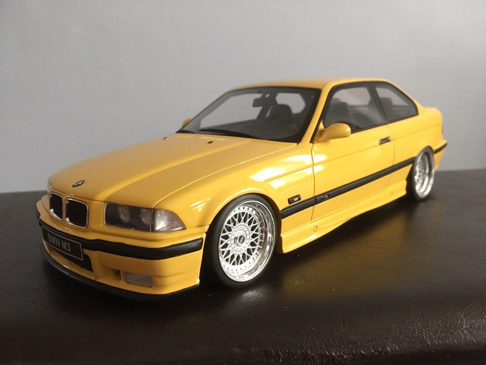 Bmw E36 M3 Coupe Yellow Resin Modelcar Ot666 Otto 1 18 For Sale Ebay