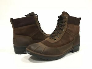 e01835ab49a Details about UGG CAYLI DUCK BOOTS WATERPROOF BROWN LEATHER -US SIZE 11 -NEW