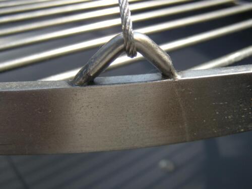 XXL BBQ Schwenkgrill Grill //Edelstahl Feuerschale 80 cm //Grillrost 70 cm Rost