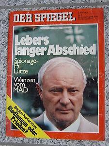 DER SPIEGEL 05 1978 - Lebers langer Abschied Spionagefall Lutze - Aachen, Deutschland - DER SPIEGEL 05 1978 - Lebers langer Abschied Spionagefall Lutze - Aachen, Deutschland