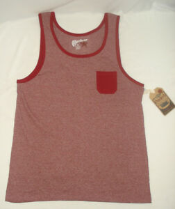 Overdrive-Young-Mens-Tank-Top-T-Shirt-Tee-Sleeveless-Burgundy-Red-Fade-NEW