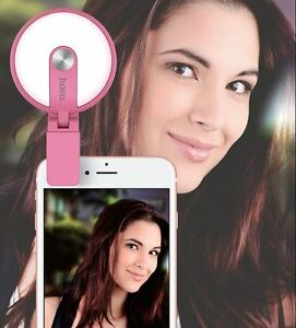 Clip-on LED Flash for iPhone & Android Phones & Selfie Sticks 3 Light modes