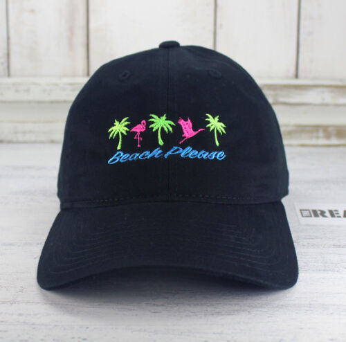 Beach Please 80/'s /& 90/'s Retro Style Dad Hat Embroidered Baseball Cap
