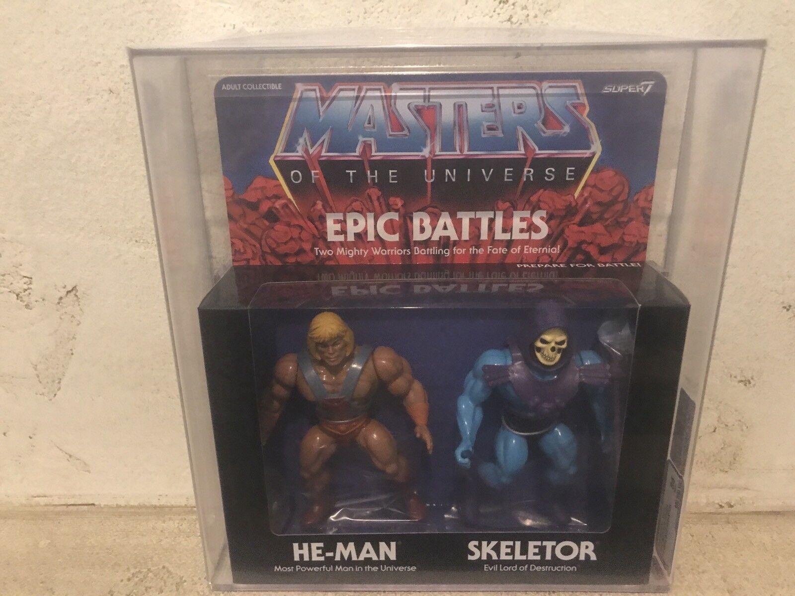 He Man Skeletor batallas épicas Super 7 85 Afa Moc Amos del universo Masters Universo Figura
