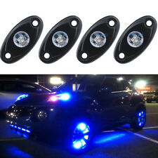 4Pcs Blue 9W Boat Cree LED Under Body Rock Light For Jeep ATV SUV 4X4WD Truck