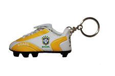 BRASIL 5 STARS , CBF LOGO FIFA SOCCER WORLD CUP SHOE CLEAT KEYCHAIN .. NEW
