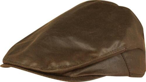 Jack Pyke Wax Flat Cap Brown Men/'s