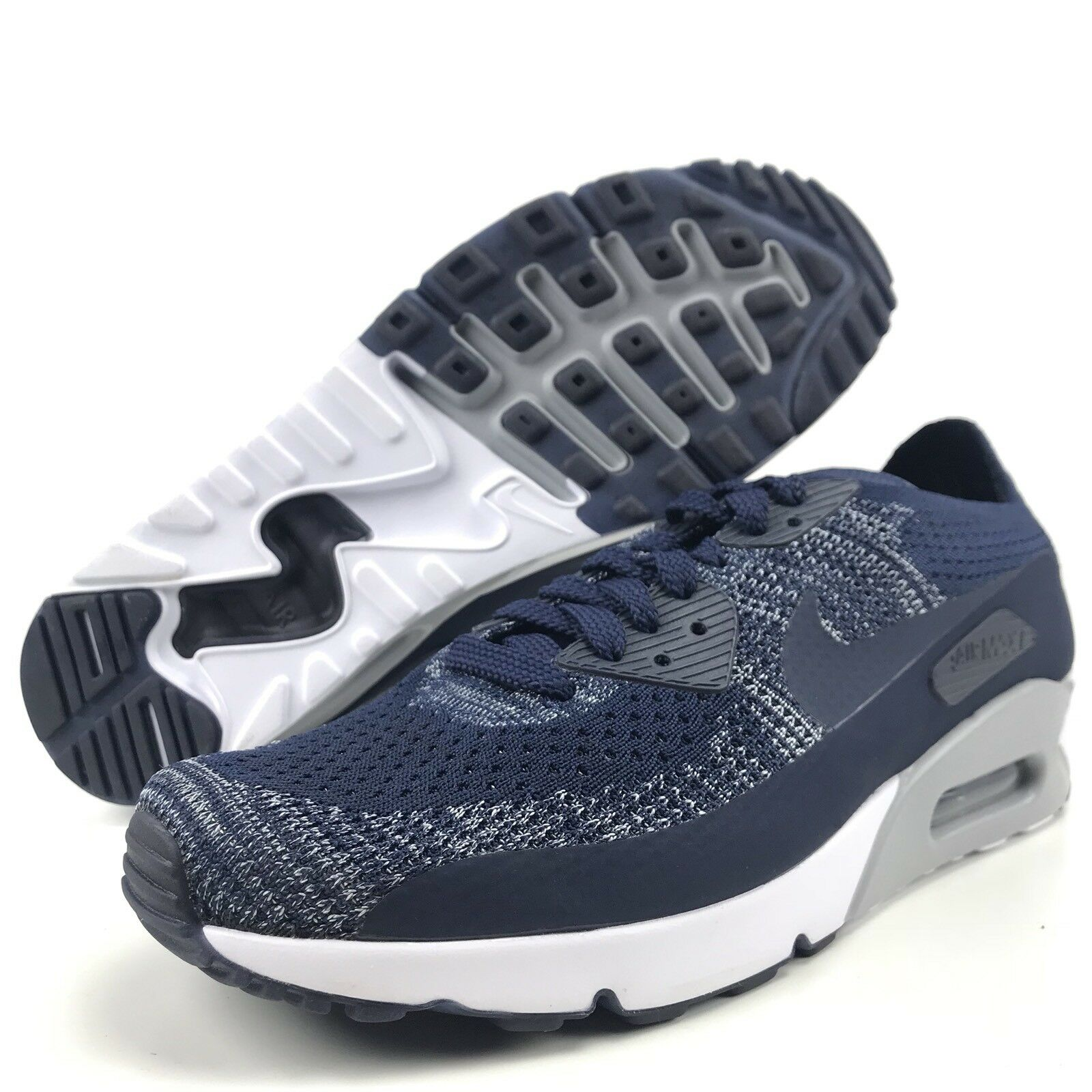 Nike Air Max Ultra 2.0 Flynit Size 9 Mens Running shoes College Navy White New