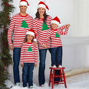Christmas Family Matching Pajamas Set Deer Adult Women Kids ...