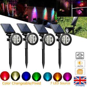 7-LED-Solar-Garden-Spot-Lights-Color-Changing-Light-Waterproof-Outdoor-Yard-Lamp