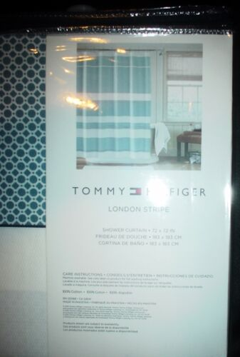 Tommy Hilfiger Home Shower Curtain 72 x 72 100/% Cotton New $65.00