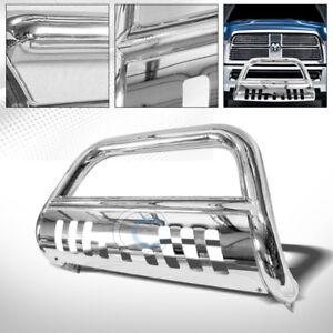 Fits-09-18-Dodge-Ram-1500-Chrome-Bull-Bar-Brush-Push-Bumper-Grill-Grille-Guard