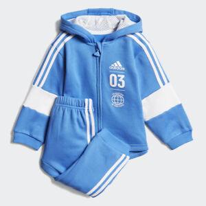 cbdf20593b92 Image is loading Adidas-Infant-Fleece-Jogger-Hooded-Tracksuit-Boys-Children-