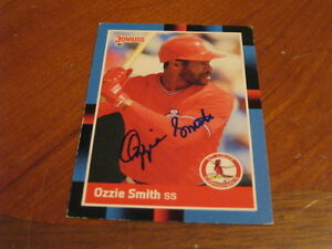 Details About Ozzie Smith Autographed Baseball Card Jsa Auction Cert 5