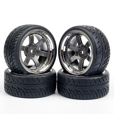 4 Pcs MPNKR+PP0150 RubberTyre/&Wheel Rim12mm Hex For 1:10 RC On-Road Car