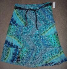 Dressbarn Skirt Size 18/20 Tropical Blue Green Waist 38,39,40,41,42 New Tags