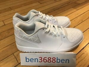 601e3c11002f NIKE AIR JORDAN 1 FLIGHT 3 LOW White BASKETBALL TRAINERS 723982-100 ...