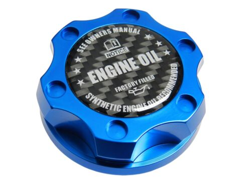 BLUE SYNTHETIC CNC BILLET ENGINE OIL FILLER CAP FOR TOYOTA SCION CF