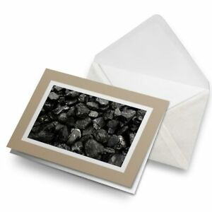 Greetings-Card-Biege-Black-Coal-Rocks-Geology-3204
