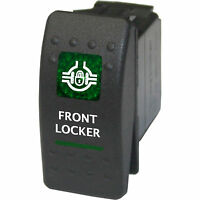 Rocker Switch 530g 12v Front Locker On-off Green