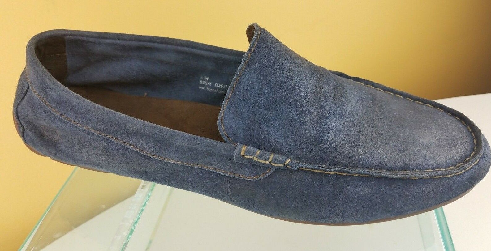 Born Men's Blue Driving Suede Leather Slip On Driving Blue Moccasin Oxford Loafers Size 9.5M b4cb60