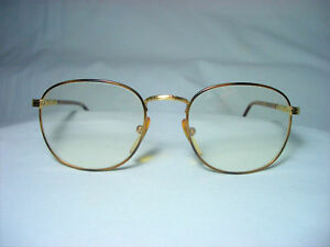 a54e54a18ab Sting 22 kt gold plated round oval eyeglasses frames men s women s ...