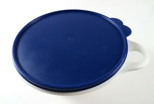 Vintage-Tupperware-12-Cup-Thatsa-Bowl-2677-B-3-with-Blue-Butterfly-Tab-Lid