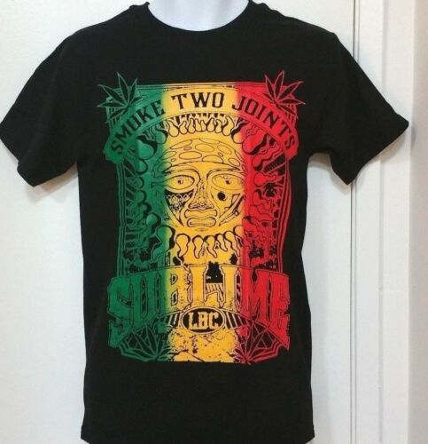 "*SUBLIME*..../""/""/""/""SMOKE TWO JOINTS/""/""/"" ~LBC~...... Black Graphic T-Shirt"