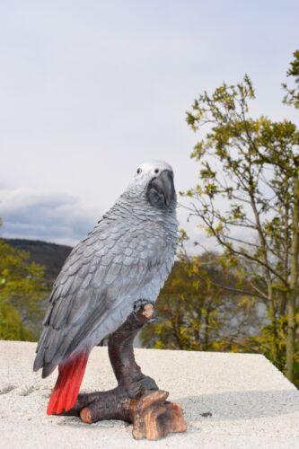 Lebensechter Graupapagei Gartenfigur Vogel Tierfigur Deko Amazon Neu Papagei
