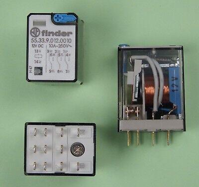 10 Stück Finder Miniatur-Relais 55.33.9.012.0010 IP20 Schaltrelais 553390120010