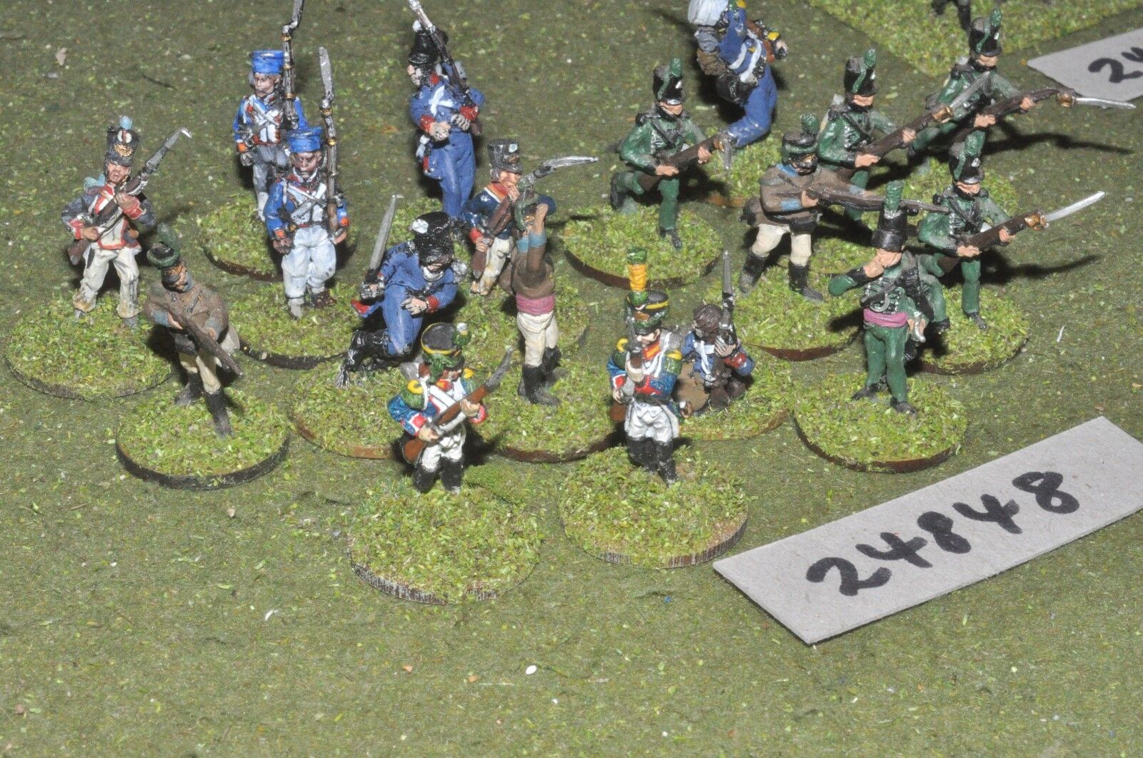 25mm napoleonic   mixed - peninsular skirmish group 18 figures - inf (24848)