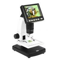 "3.5"" LCD Desktop Digital Microscope Video Capture 10X to 300X 5MP 8LED USB 30f/s"