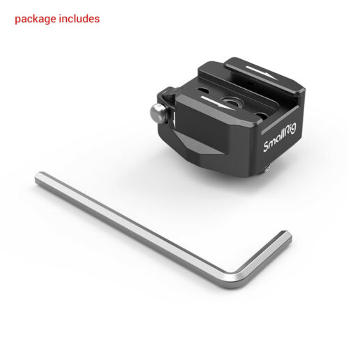 """2819 SmallRig Rotatable Cold Shoe Mount Adapter max.1200g Two 1//4/""""-20 Screws"""