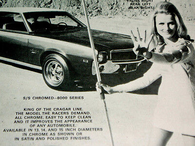 1968 AMC JAVELIN SST ORIGINAL CRAGAR SS WHEEL AD-AMX/390 v8 engine/290/343/block