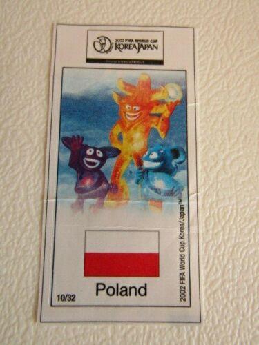 e11 Korea Japan World Cup 2002 ~ Kaugummi Bubble Gum Sticker Wrapper  Variants