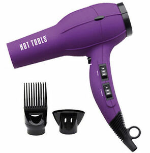 Details about Hot Tools 1023PL Ionic Anti-Static Professional Hair Dryer  1875 Watts Ion Purple