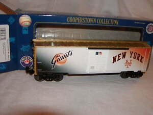 Lionel 6-82685 New York Giants Box Car O 027 2015 Cooperstown Collection New