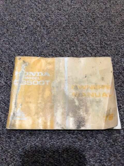 Honda Oem Vintage Owners Manual Cb500t 1976 3137502 With