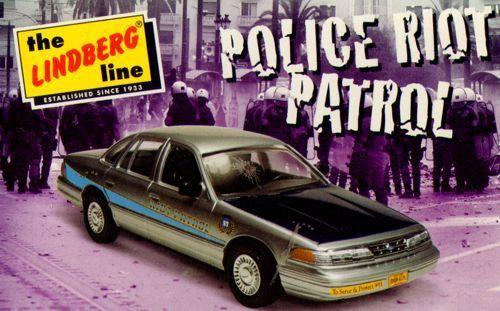 Lindberg 1 25 Crown Victoria Security Car - Police Riot Patrol