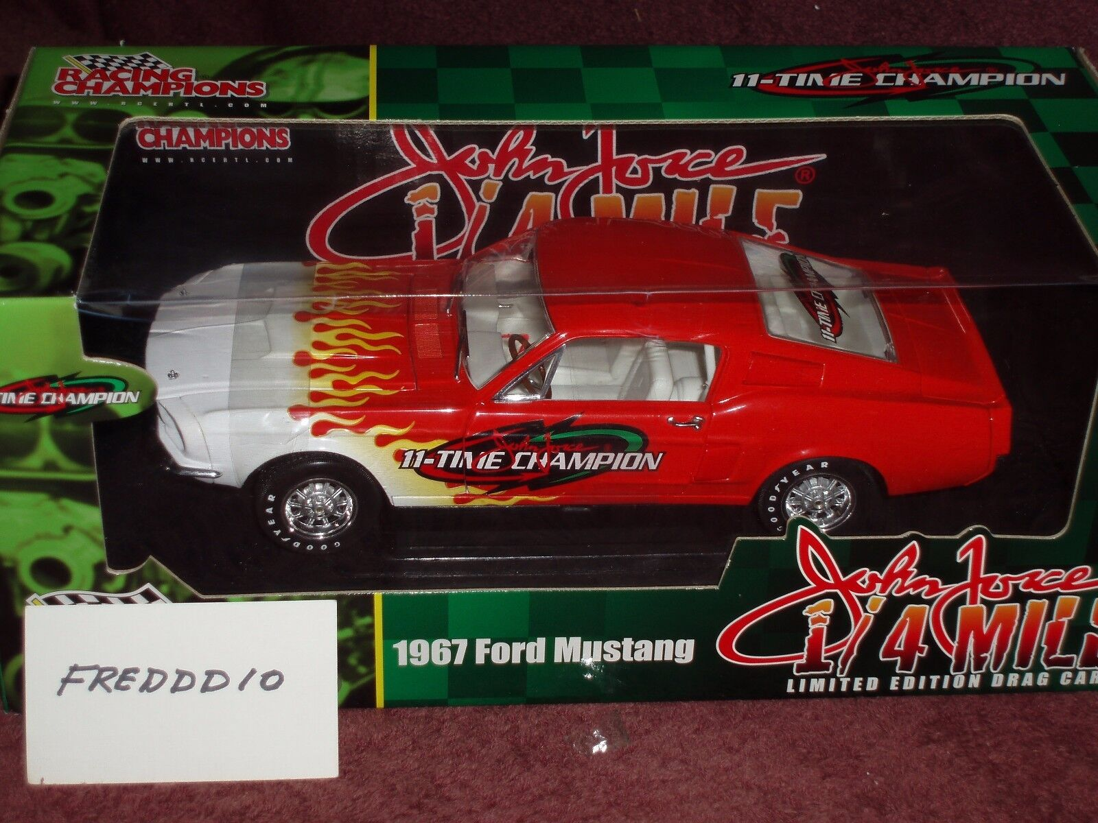 ERTL 1967 FORD MUSTANG JOHN FORCE RACING 1 18