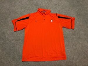 ILLINOIS FOOTBALL GAME / PLAYER ISSUED SIDELINE NIKE POLO / GOLF SHIRT SIZE 2XL
