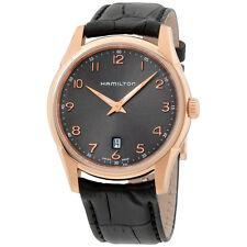 Hamilton Men's 'Jazzmaster' Swiss Quartz Gold Leather Watch H38541783