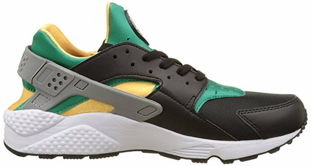Nike Men's Air Huarache Black/White/Emerald/Resin Running Shoe New shoes for men and women, limited time discount
