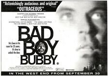 """NEWSPAPER CLIPPING/ADVERT 1/10/94PGN49 7X11"""" BAD BOY BUBBY MOVIE"""
