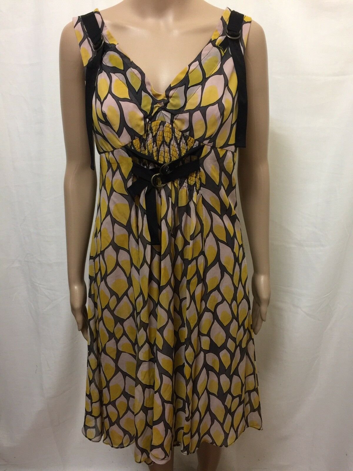MANNING CARTELL DRESS damen  Größe 10  GREAT COND STUNNING PATTERNED PRINT