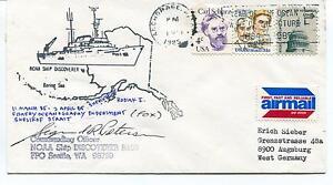 Actif 1985 Noaa Ship Discoverer P102 Seattle Kodiak I Shelikof Anchorage Cover Signed
