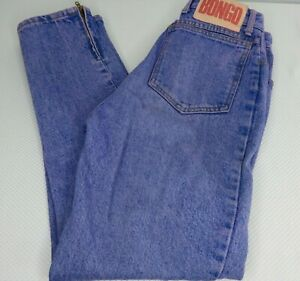 Vintage-80-039-s-Purple-Acid-Wash-High-Waist-Mom-Jeans-7-Made-In-USA-Zipper-Ankle